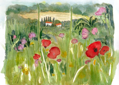 Meadow in Tuscany 10x10