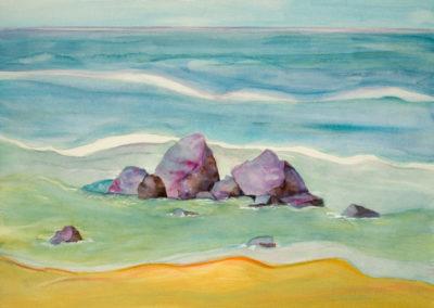 Purple Rocks, Hawaii  18x12